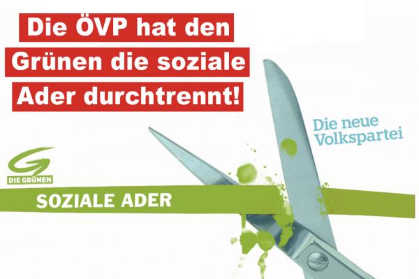 """Die ÖVP hat den Grünen die soziale Ader durchtrennt"""""""