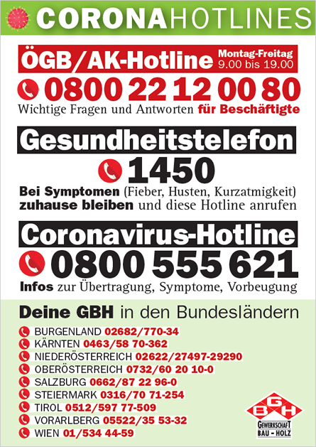 GBH - Corona Info